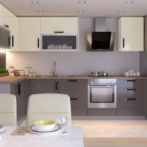 Kuchnia Qubik. Kuchnia to przestrzeń, która powinna być urządzona przytulnie, funkcjonalnie i ergonomicznie. Dzięki nowoczesnym systemom mebli modułowych Qubik wystarczy 7 dni od aranżacji do realizacji kuchni. Fot. Salony Agata