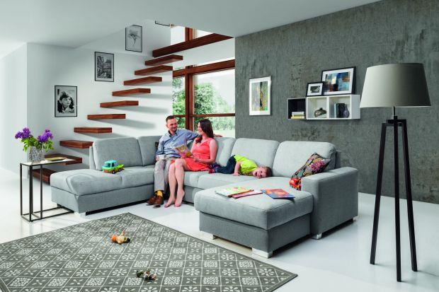 Sofa w salonie. Propozycje dla dużej rodziny