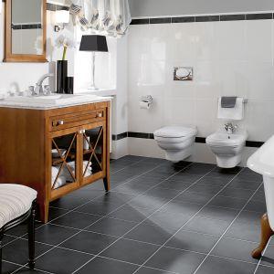 Eleganckie meble łazienkowe. Przeszklenia dodają meblom lekkości. Fot. Villeroy & Boch
