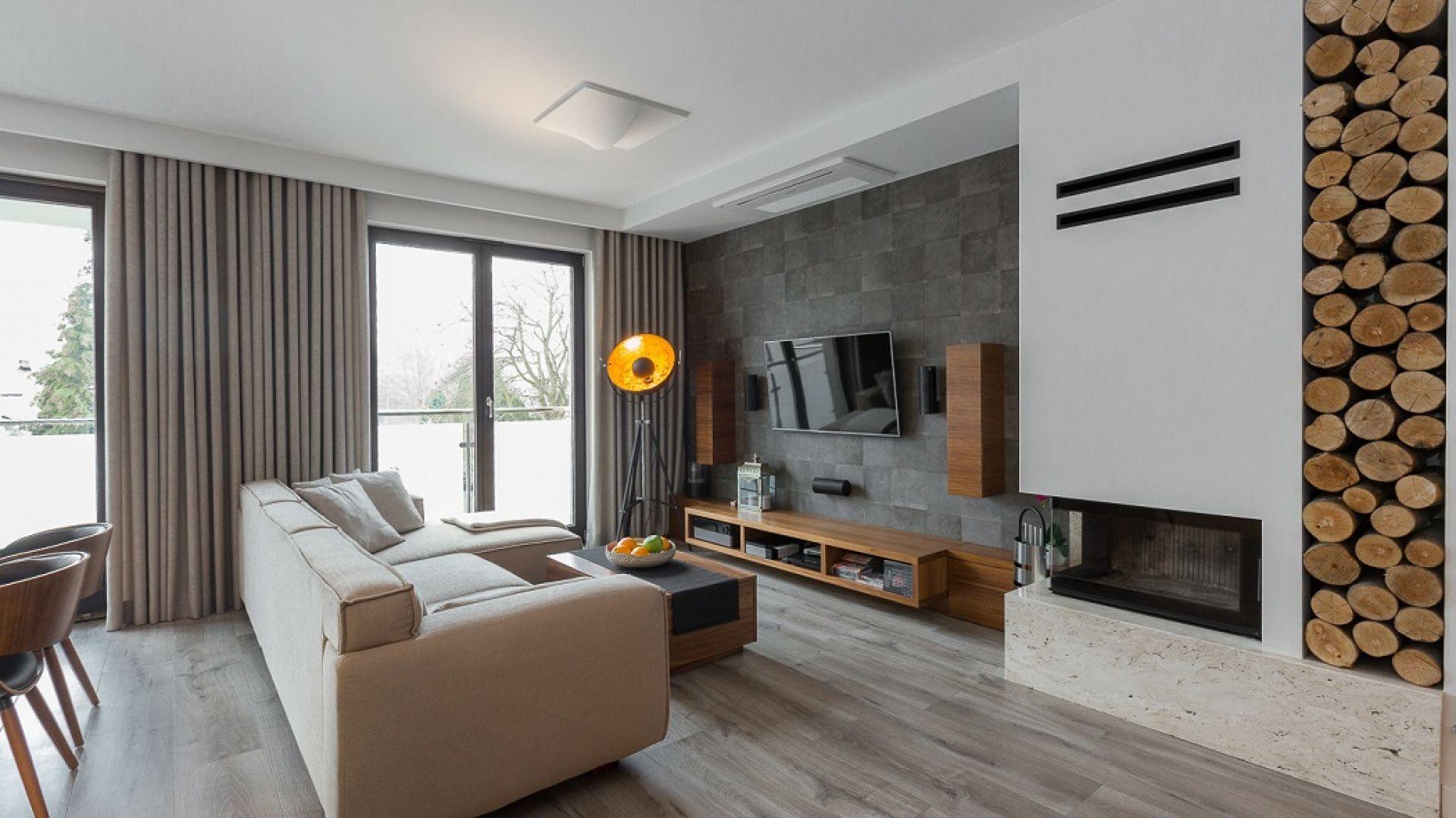 Apartament w kolorach ziemi. Projekt: Archissima