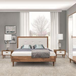Sypialnia Florencja. Modne połączenie bieli i jasnego drewna sprawi, że wnętrze nabierze przytulnego klimatu. Fot. New Elegance