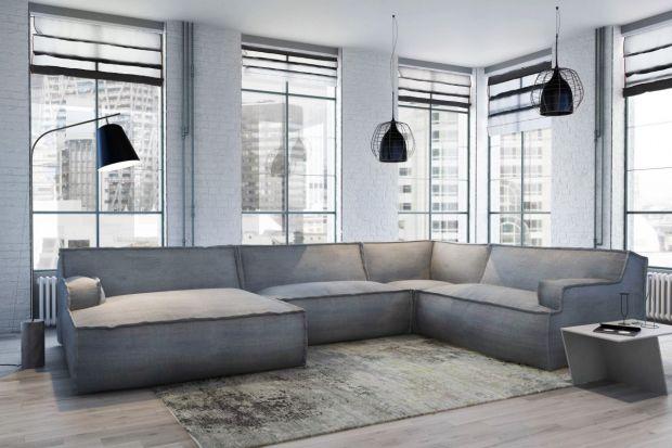 Sofa w modnym stylu.