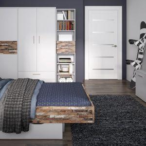 Kolekcja Cayman. Producent oferuje dwie szerokości łóżka – 90 i 120 cm, jak również opcję montażu do wezgłowia łóżka dodatkowego oświetlenia typu Butterfly. Fot. Meble Wójcik