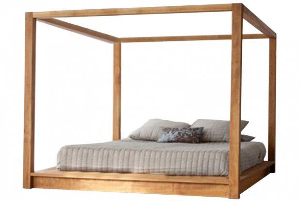 Stylowe łóżko do sypialni.
