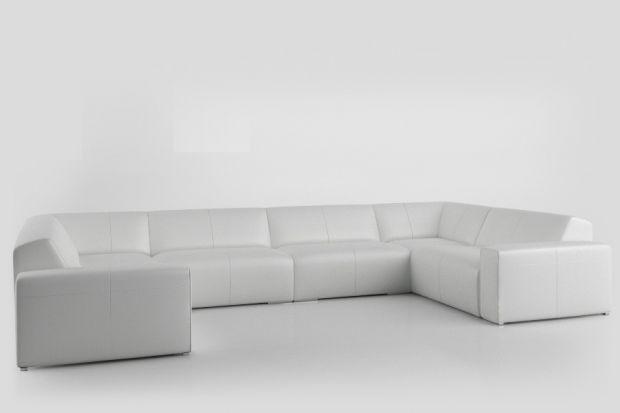 Sofa do salonu, o prostej formie.