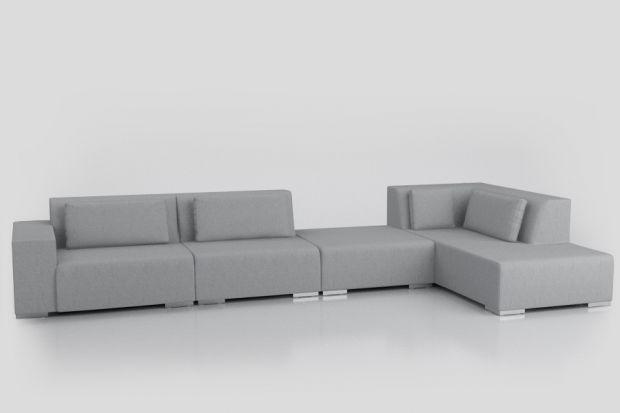 Nowoczesna sofa do salonu o modułowej formie.