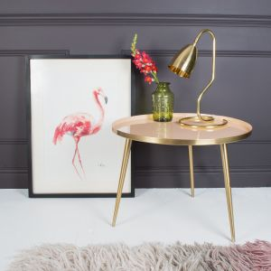 Złoty stolik Pastel Lustre. Fot. MiaFleur