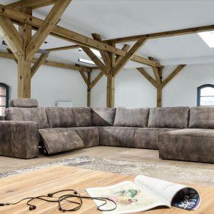 Narożnik Madrid. Narożnik Madrid wygląda dostojnie, a sprężyste poduszki siedziskowe oraz miękkie oparcia zapewniają komfort całej rodzinie. Fot. Primavera Furniture