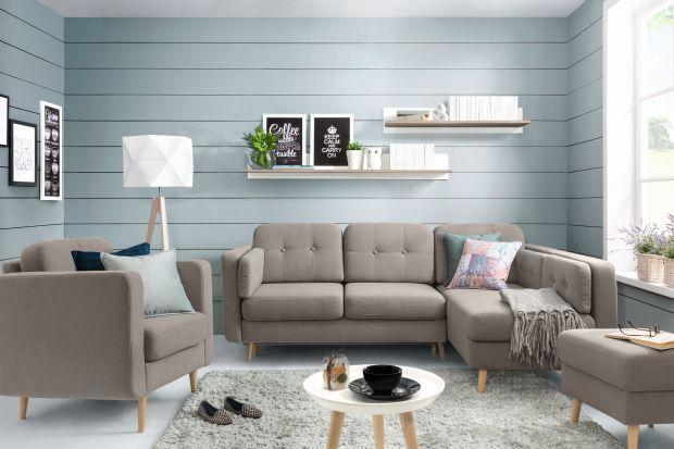 Sofa w salonie. Śliczne modele w jasnych kolorach