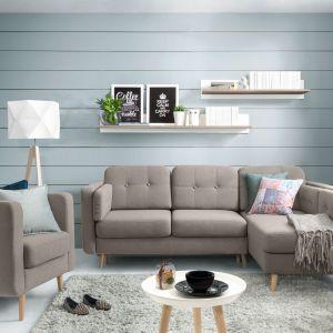 Sofa Cornet. Mebel oparty na wysokich nóżkach pięknie przentuje się w niewielkim wnętrzu. Fot. Black Red White