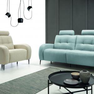Trick to nowoczesna sofa oraz fotel. Ciekawie prezentują się w różnych kolorach. Fot. Etap-Sofa