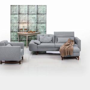 Sofa Embrace i fotel z tej samej kolekcji doskonale pasują do wnętrz w nowoczesym stylu. Fot. Brühl