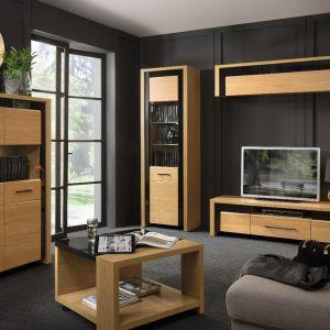 Arosa to system przeznaczony do pokoju dziennego i jadalni. Kolekcję tworzy dziewięć elementów. Fot. Black Red White
