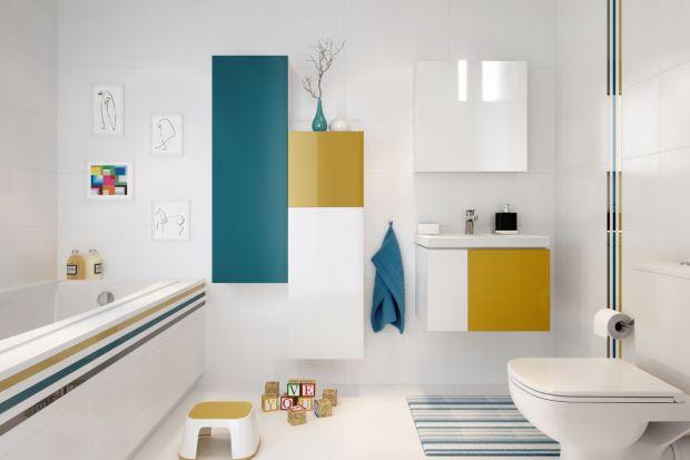 Kolorowa łazienka. Zobacz śliczne meble