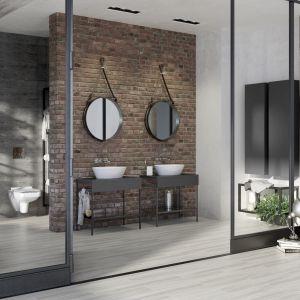 Kolekcja mebli łazienkowych Splendour doskonale pasuje do minimalistycznych wnętrz, jak również w stylu loft. Fot. Opoczno