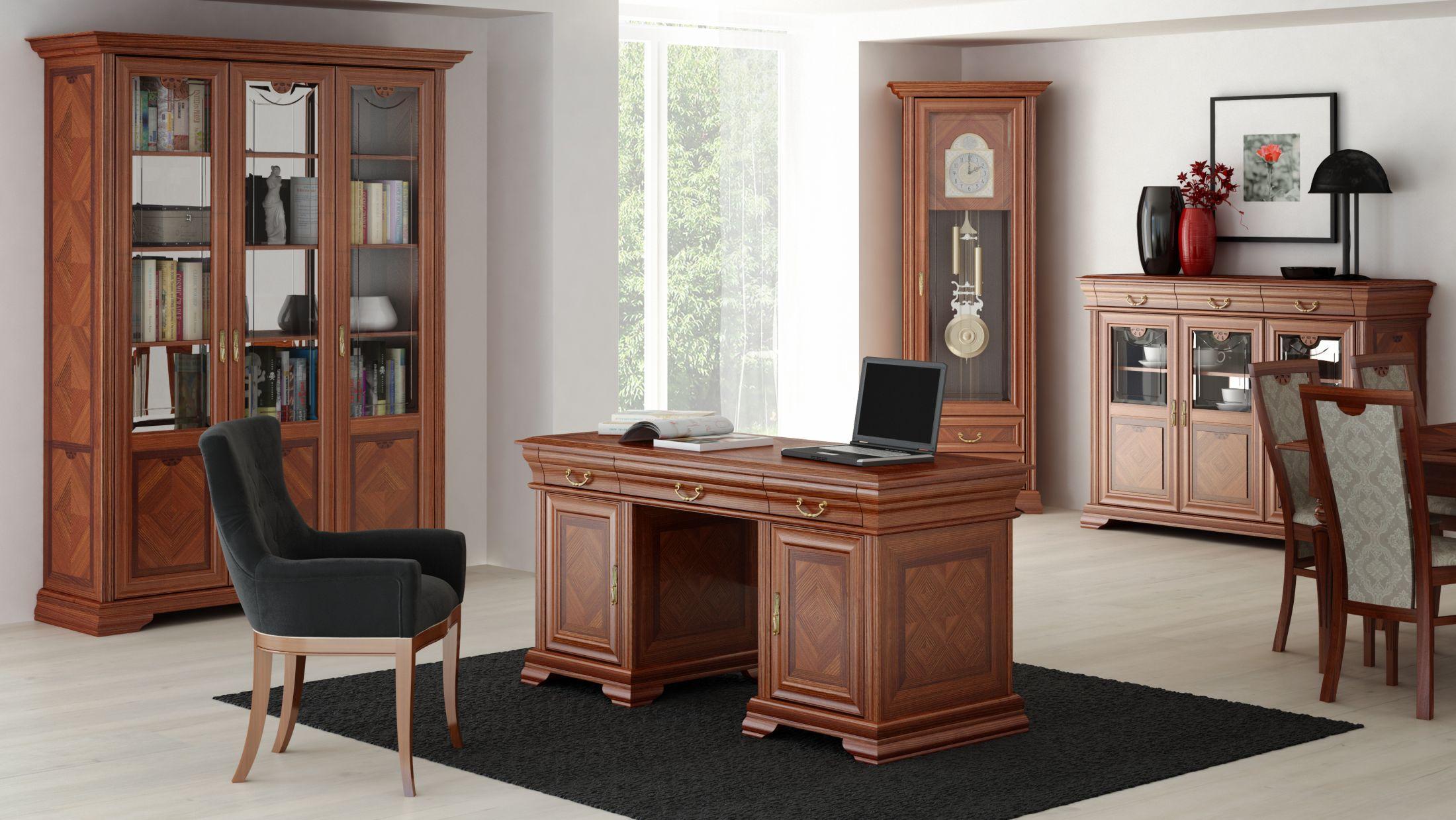 Kolekcja Milano wyróżnia się klasyczną stylistyką. Pozwala urządzić gustowne pomieszczenie biurowe. Fot. Olejnikowski