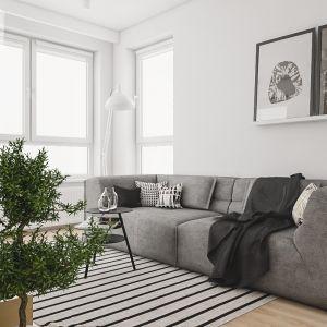 Sofa Piero nie posiada funkcji spania, ale ma wygodne, głębokie siedzisko. Fot. Adriana Furniture