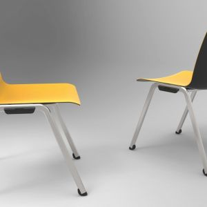 Krzesła z serii Shila firmy MDD. Projekt: Javier Cuñado. Fot. MDD