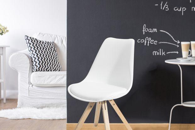 Krzesło do jadalni i salonu inspirowane skandynawskim designem.