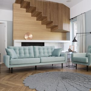 Sofa Rock i fotel z tej samej kolekcji doskonale pasują do wnętrz w stylu skandynawskim oraz mdern. Fot. Bizzarto