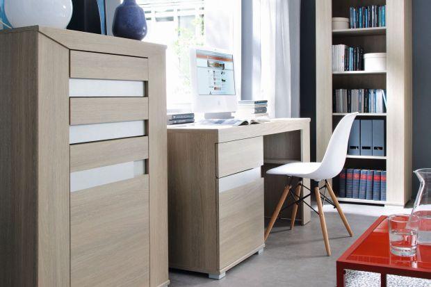 W kolekcji Madras znajdują się m.in. pojemne witryny, komody, szafy oraz biurka pozwalające na stworzenie ciekawej przestrzeni biurowej.