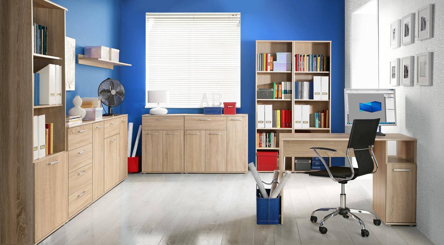 Meble z kolekcji Niko pozwalają na spójną aranżację całego mieszkania. Sprawdzą się zarówno w pokoju dziennym, jak i w pokoju młodzieżowym, w gabinecie, sypialni, a nawet w przedpokoju. Fot. Forte