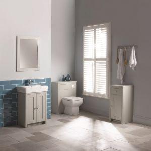 Meble na nóżkach prezentują się lekko wizualnie. Fot. Pure Bathroom Collection