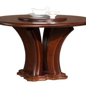 Stół okrągły z obrotowym blatem, z kolekcji Lazuryt. Fot. Mebin
