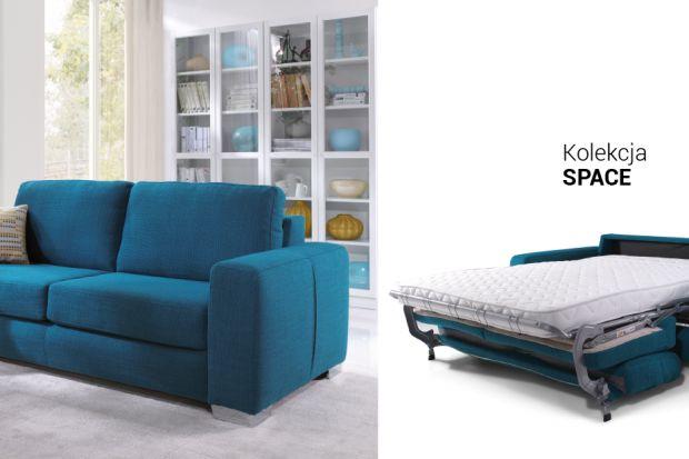 Komfortowa sofa z funkcją spania.