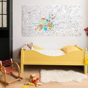 Kolorowanka Fantastic XXL pozwoli dziecku bezkarnie malować po ścianie. Fot. Bonami.pl