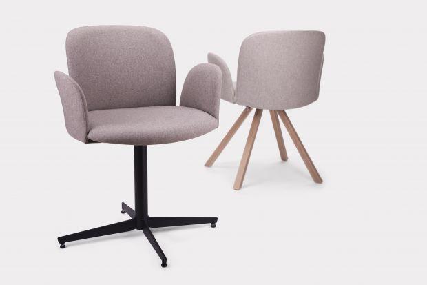 """Fotel """"April"""" firmy Paged posiada całkowicie tapicerowane zarówno siedzisko, jak i oparcie. Jego cechą charakterystyczną jest nowoczesna i ergonomiczna forma. Projekt fotela powstał w pracowni Nikodema Szpunara."""