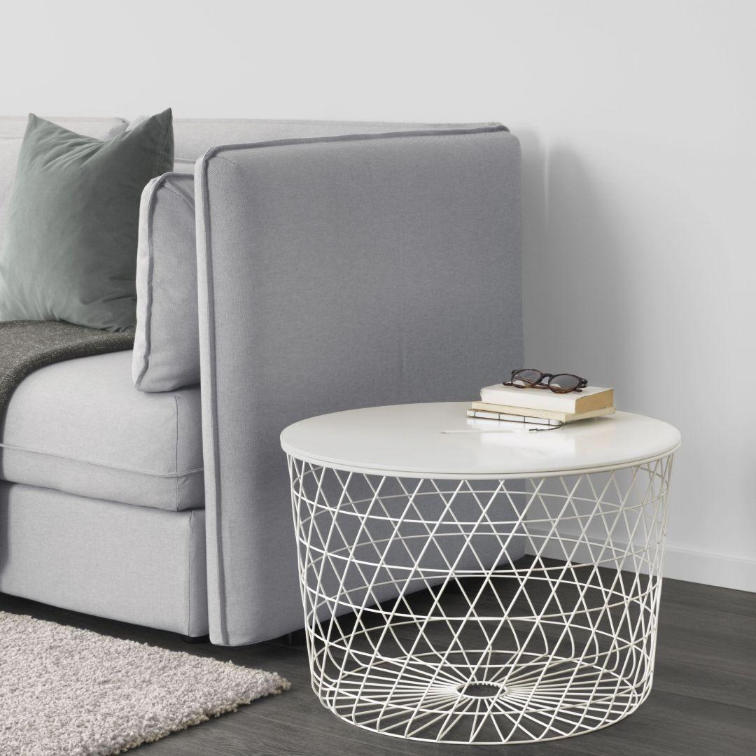 Stolik kawowy w formie koszyka - IKEA Kvistbro, cena ok. 199 zł