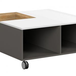 Stolik kawowy z kolekcji Graphic, Black Red White - cena 799 zł