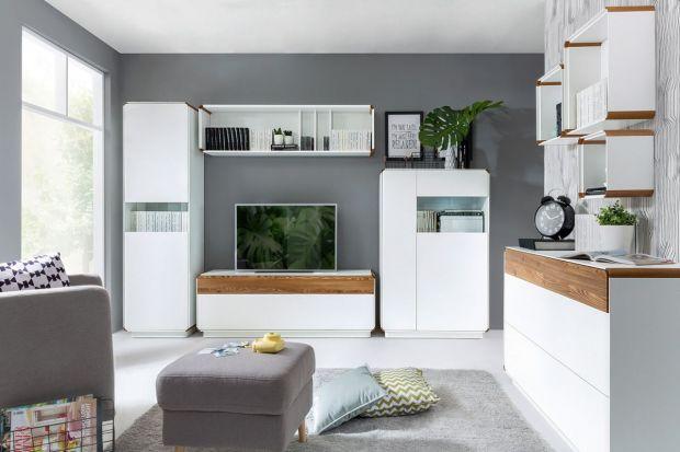 """Białe meble z elementami naturalnego drewna to znak rozpoznawczy kolekcji """"Elis"""" firmy Black Red White. To propozycja dla zwolenników współczesnej elegancji i prostoty. Meble dostępne są w dwóch opcjach kolorystycznych: bieli oraz bieli z"""