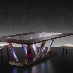 Stół ze szkła Murano. Fot. Reflex/Galeria Heban