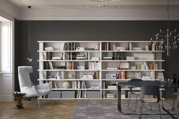 Regały na książki - tak mogą wyglądać w salonie
