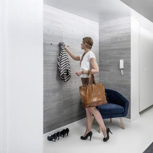 Otwarta garderoba wyróżniona innym kolorem ściany będzie nietypową dekoracją. Fot. Vox