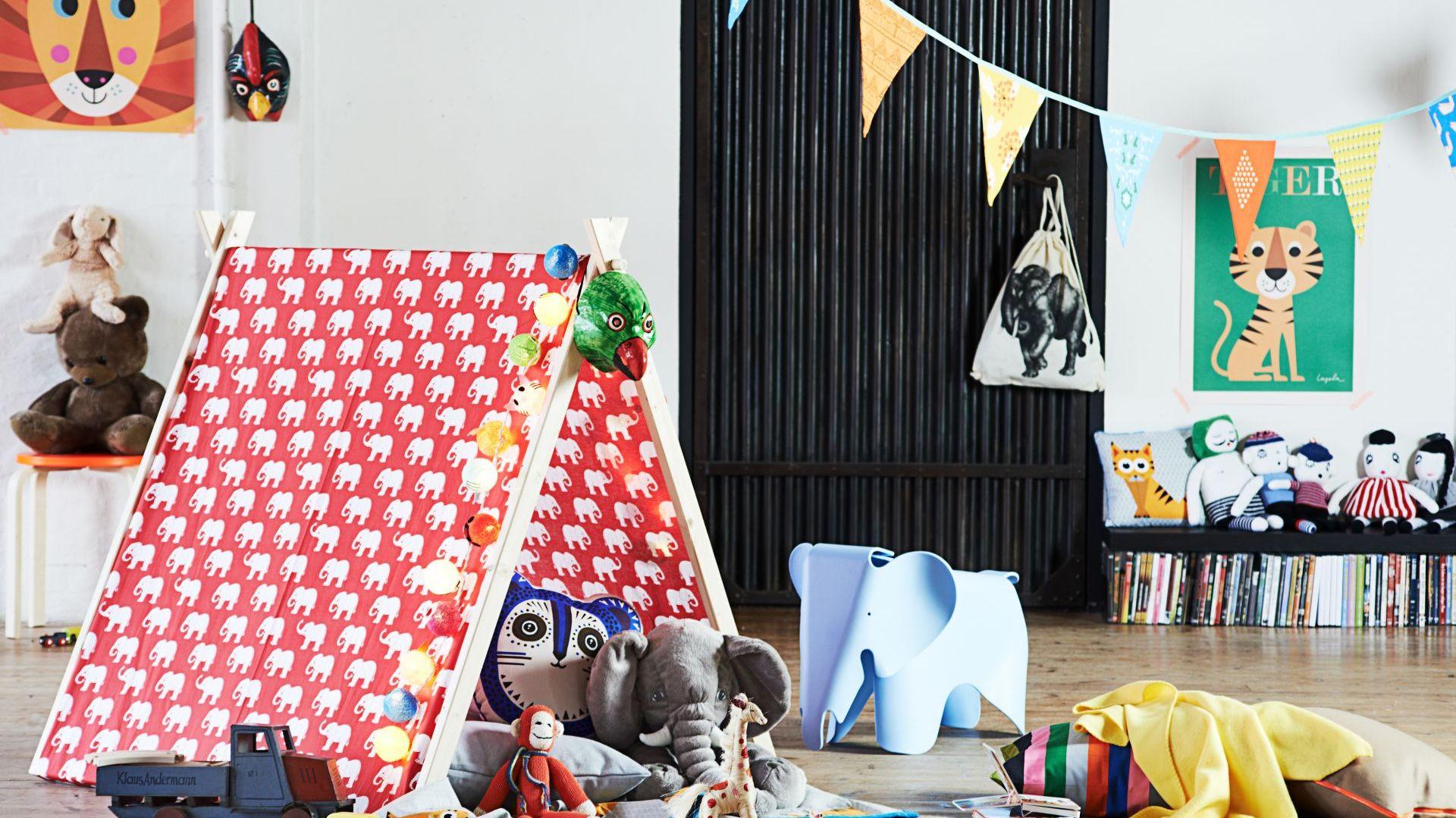 Namiot to wspaniała dekoracja do pokoju dziecka i miejsce do dobrej zabawy. Fot. Bosch