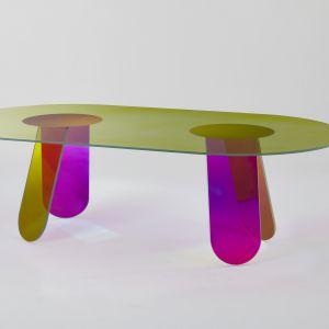 Stół marki Glass Italia. Fot. Glass Italia