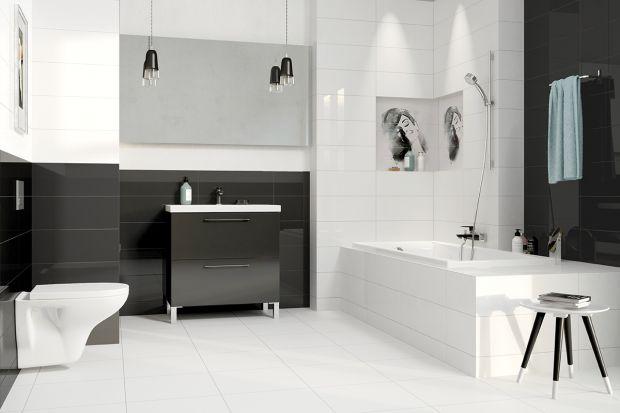 Czarny kolor stosowany z umiarem może nadać aranżacji łazienki wyjątkowy klimat. Przykładem jego wykorzystania są odpowiednio dobrane meble łazienkowe.