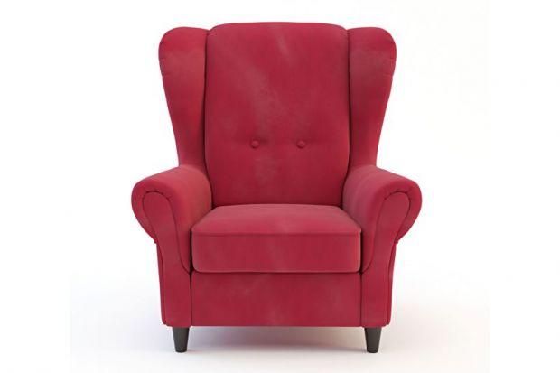 Wygodny fotel typu uszak.