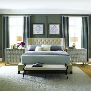 Sypialnia w stylu glamour. Fot. Open Space Interiors