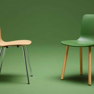 "Krzesła z serii ""Hal Ply Tube"" firmy Vitra. Projekt: Jasper Morrison. Fot. Vitra"