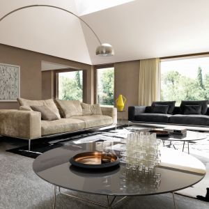 W dużym salonie można sobie pozwolić na dwie rozłożyste sofy. Fot. Desiree