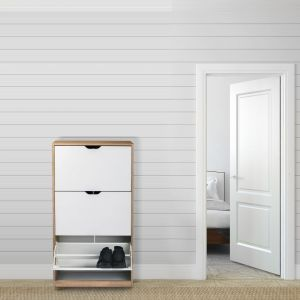 Specjalnie skonstruowana szafka na buty pozwoli zaoszczędzić miejsce. Fot. Homekraft
