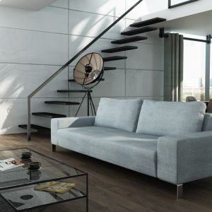 W dużym, otwartym wnętrzu można zmieniać dowolnie ustawienie sofy. Fot. Adriana Furniture