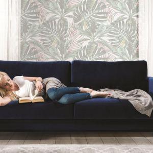Sofa Modo w odcieniu ciemnego granatu. Fot. Wajnert Meble