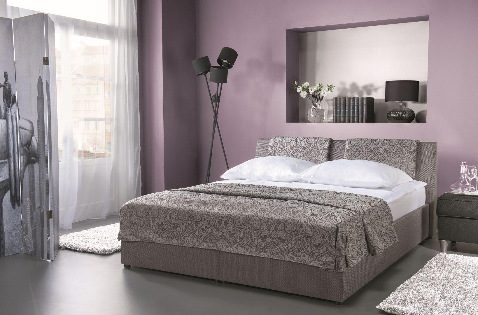Łóżko tapicerowane Comfort z podnośnikiem gazowym. Fot. Libro