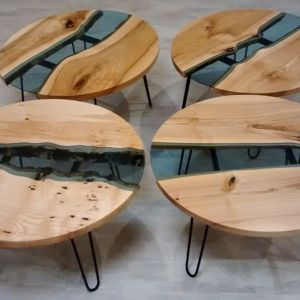Stoliki pomocnicze marki Malita Just Wood. Fot. Malita Just Wood