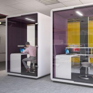 """Kabiny akustyczne """"Hush Work"""". Fot. Mikomax Smart Office"""